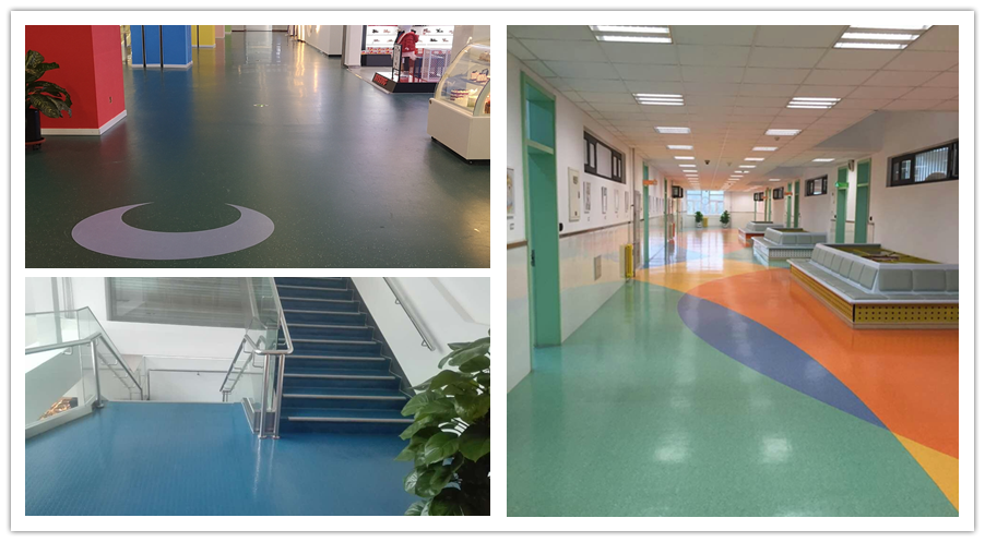 coloured rubber flooring rolls