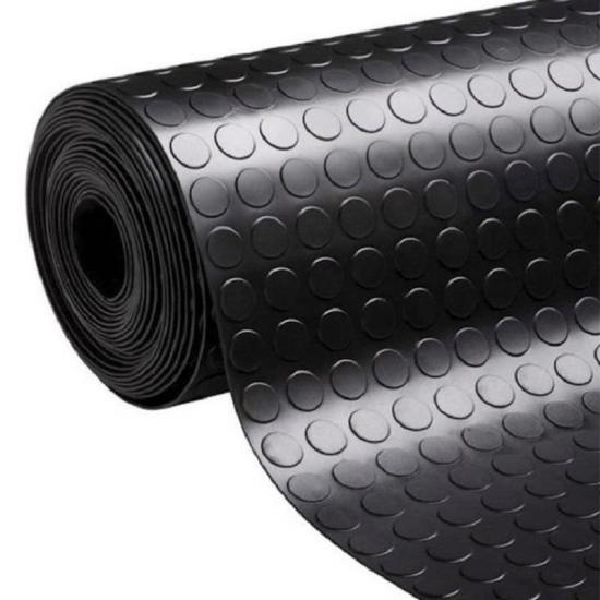 Black Non-Slip Rubber Flooring Tiles
