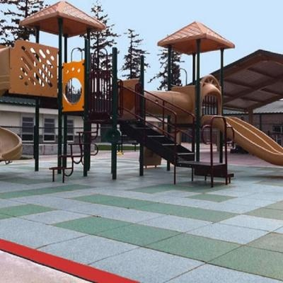 Interlocking Rubber Playground Flooring