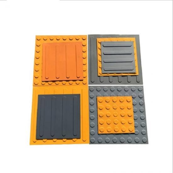 Tactile Warning Rubber Tiles